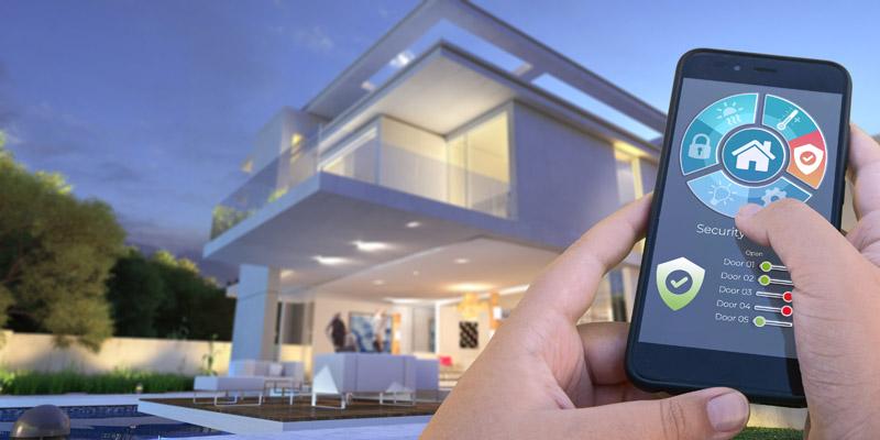 maison connectée domotique télécommande