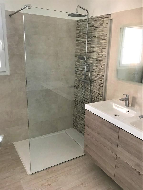 logis conseil construction salle de bains douche italienne